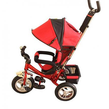 Детский трехколесный велосипед М 3113-3А надув.колеса, красный, фото 2