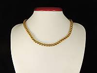 Бусы из гематита, шар гладкий,6мм, золотой, фото 1