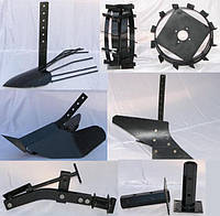 Навесное оборудование для мотоблоков: грунтозацепы, картофелекопатели, картофелесажалки, окучники...