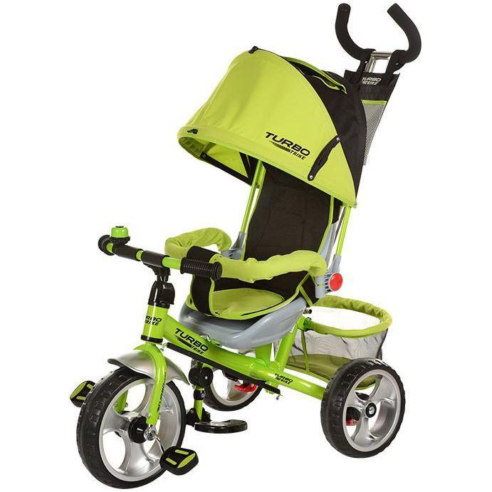 Детский трехколесный велосипед М 3113-4А надув.колеса, салатовый