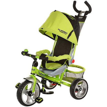 Детский трехколесный велосипед М 3113-4А надув.колеса, салатовый, фото 2
