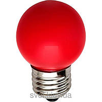 Лампа накаливания General Electric 15Вт,  D1/R/E27,  шарообразная красная (Венгрия)