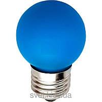 Лампа накаливания General Electric, 15Вт, D1/B/E27, шарообразная синяя(Венгрия)