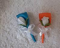 Свадебные бутоньерки, дешево