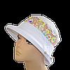 Шляпа женская Парижанка лен белая + ажур конфетти