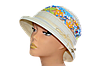 Шляпа женская Парижанка лен молоко + ажур