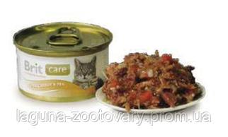 Брит Кер тунец-морковь-горох, 80гр, консервы для кошек, суперпремиум