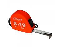 Рулетка 5мХ19мм, автостоп, Soft Touch Sturm! 3100202
