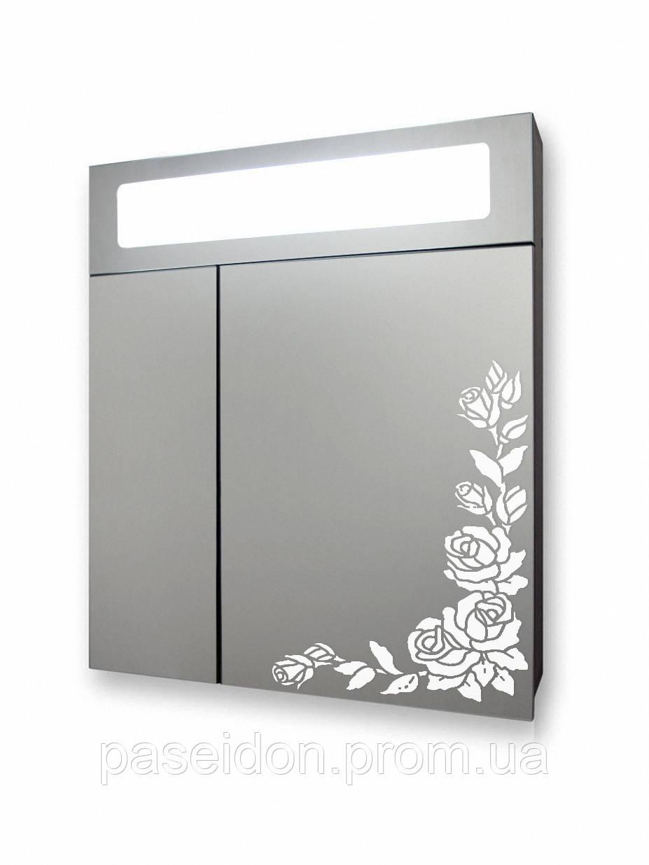 "Панорамный зеркальный шкаф А 24-55 ""Розы"""