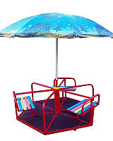 Карусель детская с зонтом 6-местная, фото 1