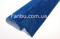 Креп бумага металлизированная синяя №805