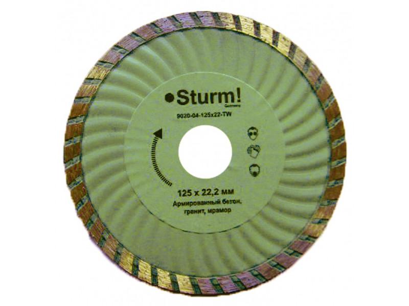 """Алмазный диск Sturm ТурбоWave d=115 мм 9020-04-115x22-TW - Интернет-магазин """"COOLTOOL"""" в Запорожье"""