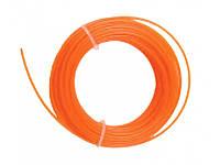 Леска для триммера круг,1.3ммх15м, оранжевый GT3535-1.3-0-15