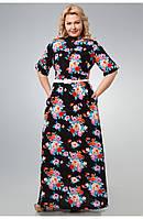 Длинное платье полуприлегающего силуэта, фото 1