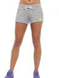 Женские спортивные шорты Adidas (Адидас) трикотаж 402-02