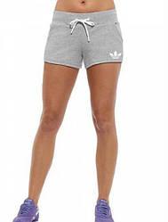 Женские спортивные шорты Adidas (Адидас) трикотаж 401-02