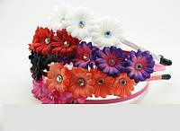 Обручи для волос с цветами