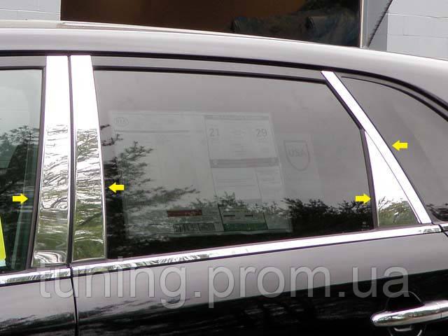 Хром накладки дверные стоек Kia Sorento 2009-2013