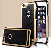 Противоударный чехол для iPhone 6/6S золотые обода, фото 1