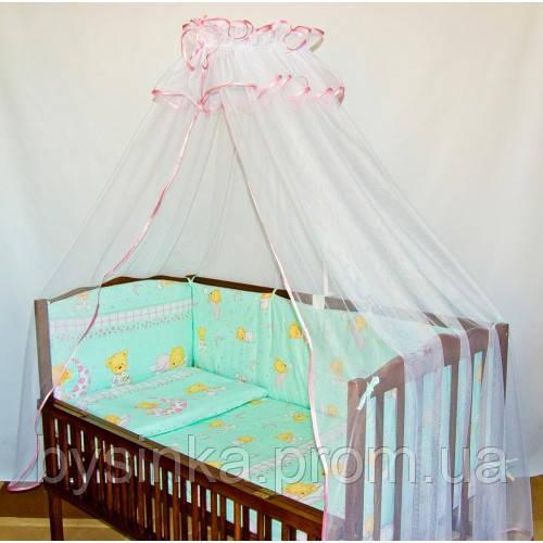 Бампер высокий, раздельный с чехлами на молнии и постель в кроватку детскую - Магазин детских товаров «Моя Бусинка» в Киеве