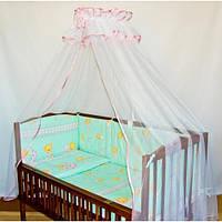 Бампер (35 см) со съёмными чехлами (на молнии) на  все стороны детской кровати. , фото 1