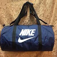 Спортивная сумка-цилиндр Nike, Найк синяя с белым, фото 1