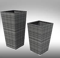 Цветочная ваза  TIGRE  60х37х37 см  GREY плетеная   из ротанга
