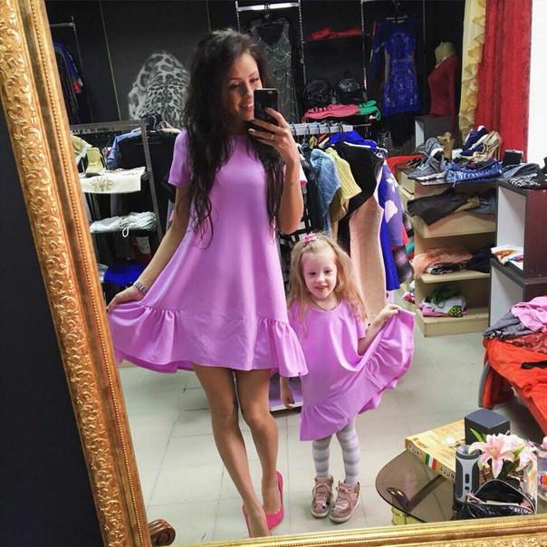1255f64bb77f Одинаковые платья мама и дочка в разных цветах MD03 - Shoppingood в Харькове