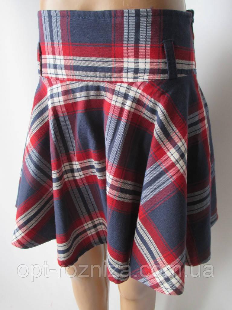 Детские юбки с широким поясом.