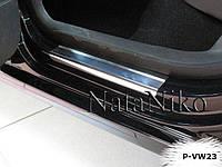 Накладки на пороги Premium Volkswagen Polo IV 5D 2001-2009