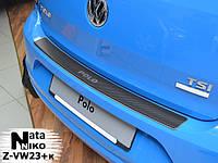 Накладки на пороги Premium Volkswagen Polo V 3D 2009-