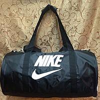 Спортивная сумка-цилиндр Nike, Найк черная с белым
