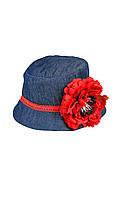 Шляпка с цветком для девочки 52-54