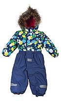 Детский зимний комбинезон синий 98