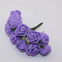 Розы из фоамирана фиолетовые  (5 шт.) (товар при заказе от 200 грн)