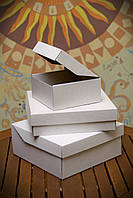 Коробка для тортов, чизкейков, пирогов, пирожных, 177х165х83 мм, белая