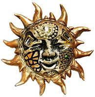 Солнце подвеска из пластмассы 90х90х25