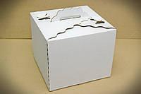 Коробка для торта, 300х300х250 мм, белая, фото 1