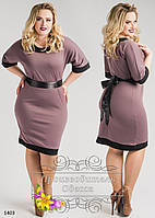 Платье трикотажное однотонное