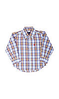 Детская клетчатая рубашка 122-128