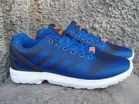 Кроссовки мужские Adidas ZX Flux синие (размеры 42-43)