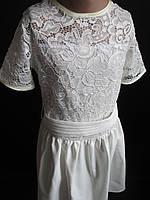Нарядное белое платье для девочки.