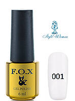 Fox Gel Polish Фокс гель лак 6 мл №001