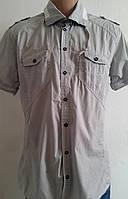 Рубашка мужская светло серая молодежная (l/xl)