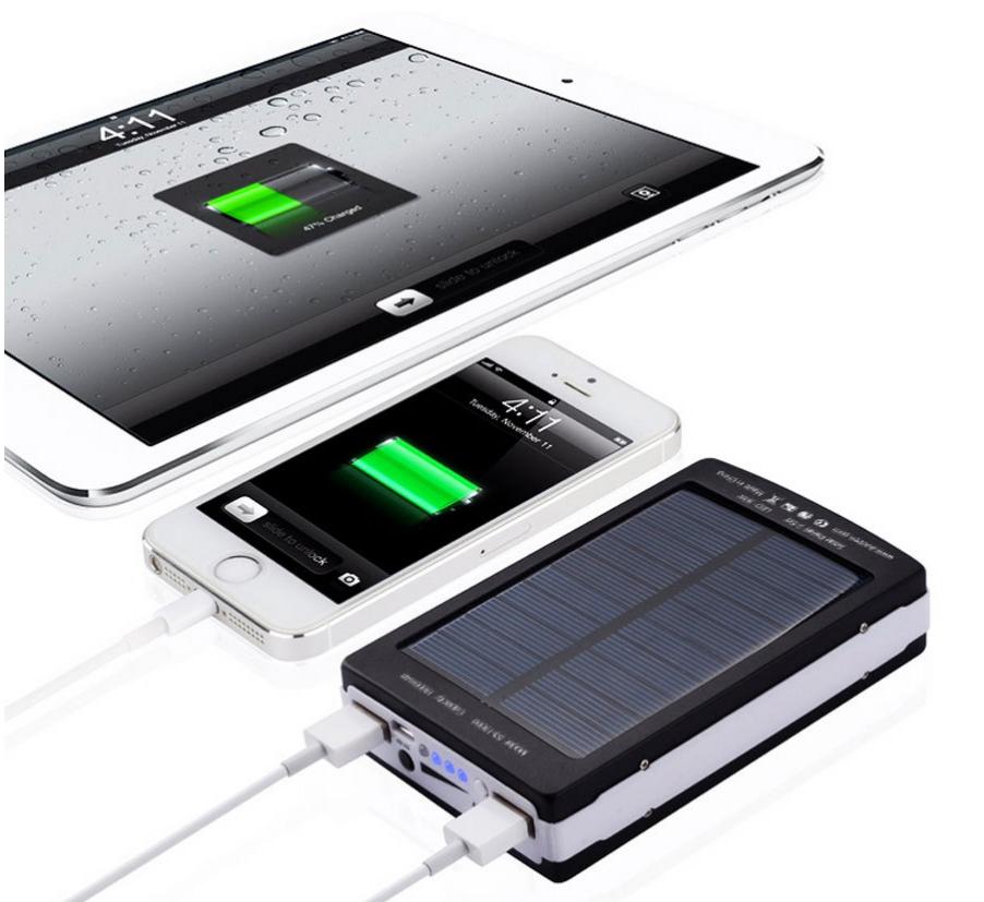 Power Bank солнечная панель (solar charger) LED фонарь 10000 mah