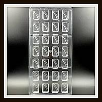 Поликарбонатная форма Прямоугольник мал. для конфет, карамели, шоколада, фото 1