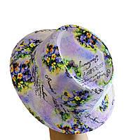 Шляпа женская Блюз анютины глазки