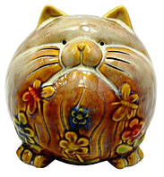 Копилка кошка из керамики 120х120х120