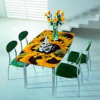"""Стеклянный обеденный стол """"Подсолнух"""""""