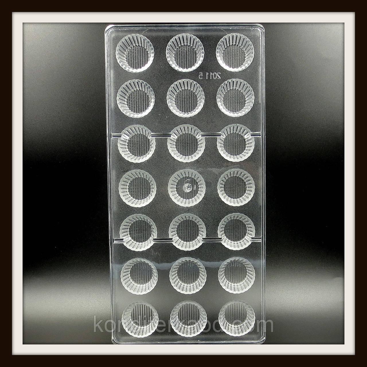 Поликарбонатная форма Цилиндр для конфет, карамели, шоколада